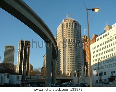 People Mover in Detroit - stock photo