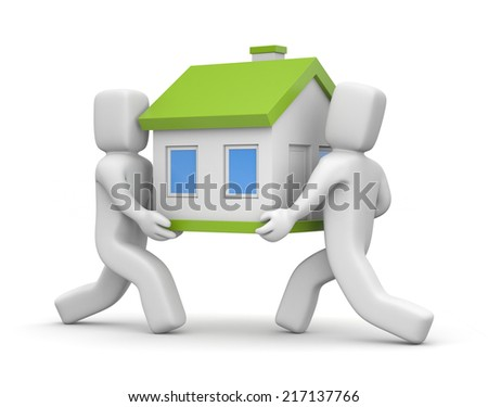 People moving house - stock photo