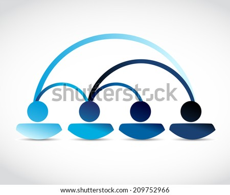 people network communication illustration design over a white background - stock photo