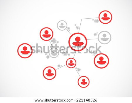 people network connection illustration design over a white background - stock photo