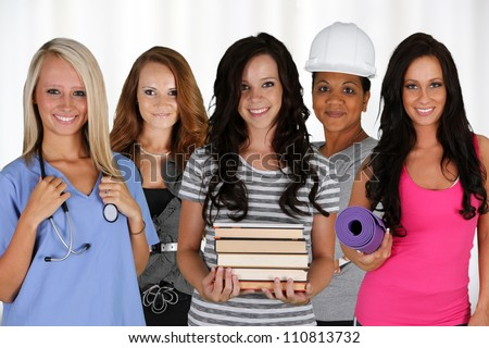 People of all different races and occupations - stock photo
