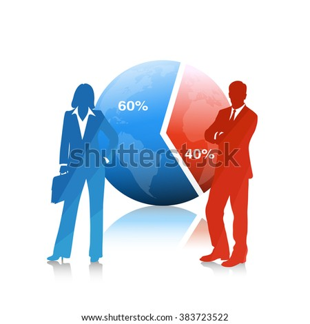 People of business .The concept of economic development - stock photo