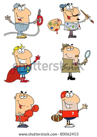 People of different professions raster collection 2 vector version is