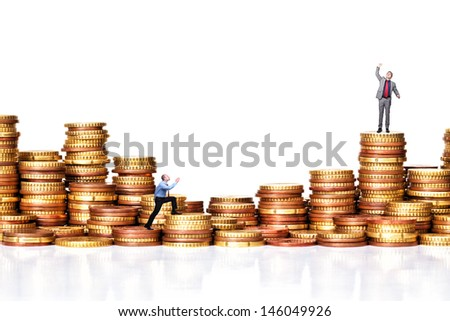 people on euro coin background