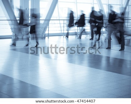 People on the move - stock photo