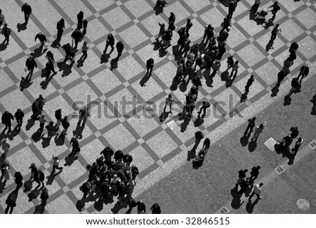 people on the square