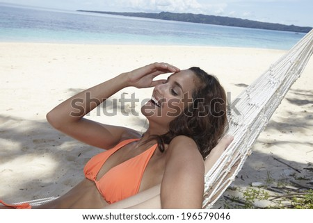people on vacation at the beautiful beach,Boracay in Philippine - stock photo