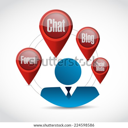people online tools illustration design over a white background - stock photo