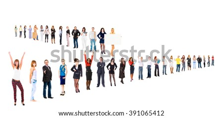 People Order Business Compilation  - stock photo