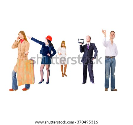 People Order Perspective Concept  - stock photo