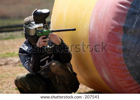 People playing paintball