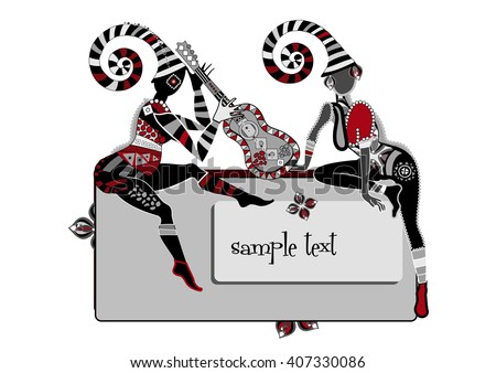 people playing your favorite music in ethnic style - stock photo
