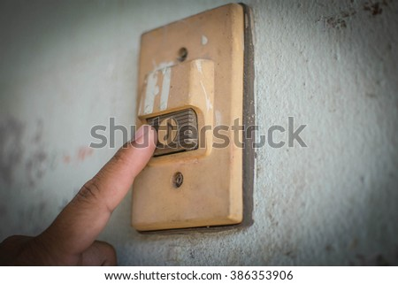 People ring the bell - stock photo