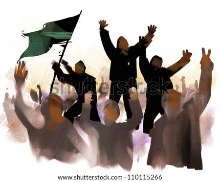 People's revolution - stock photo