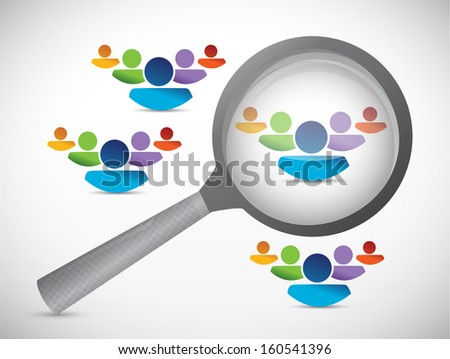 people selection illustration design over a white background - stock photo