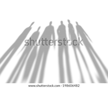 people shadows - stock photo