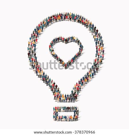 people  shape  balloon love - stock photo