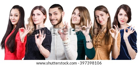 People showing OK sign