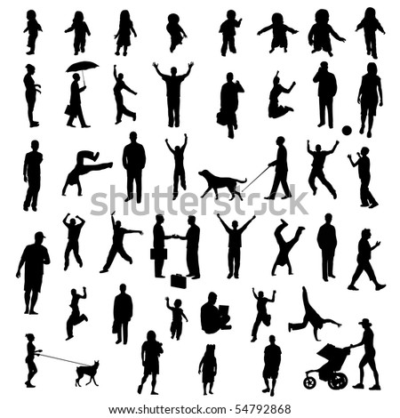 People Silhouettes. EPS available in my portfolio. - stock photo
