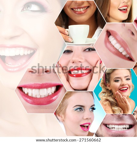 People smiles collage