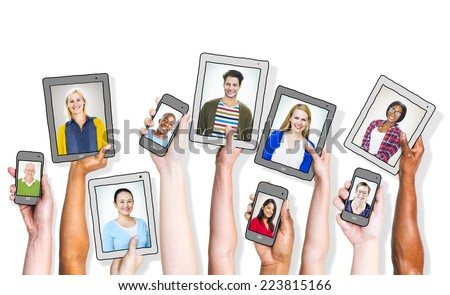 People Social Networking and Related Concepts - stock photo