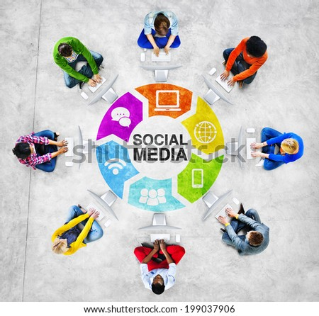 People Social Networking and Social Media Concept - stock photo