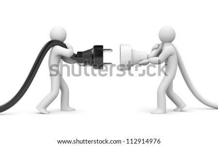 People try to connect - stock photo