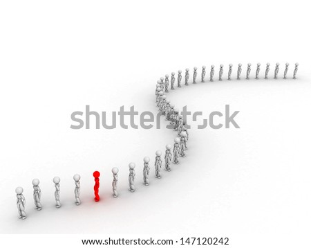 People wait in line 3 - stock photo