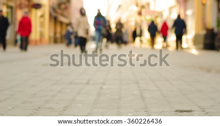 People Walking Commuter Travel Motion City Concept,Defocused background blurred people,horizontal photo