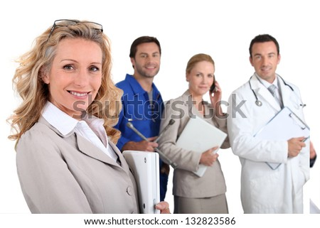 People with fulfilling careers - stock photo