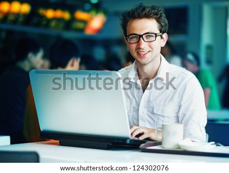 People with laptop - stock photo