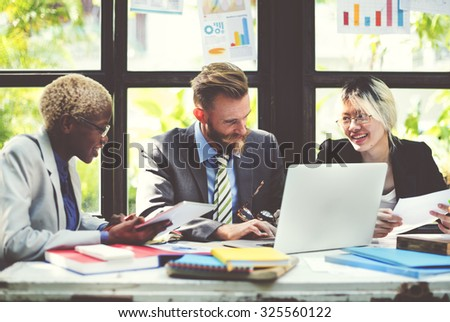 People Working Colleague Team Corporate Concept - stock photo