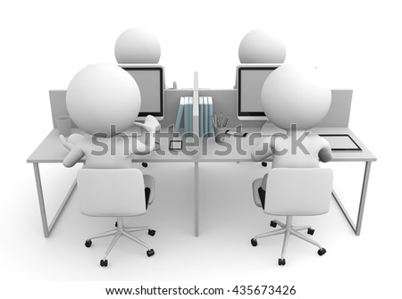 people working 3D rendering