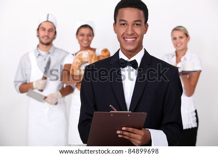 People working in the service industry - stock photo