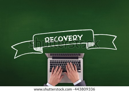 PEOPLE WORKING OFFICE COMMUNICATION  RECOVERY TECHNOLOGY CONCEPT - stock photo