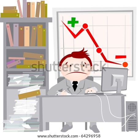 Peoples series-office-crisis - stock photo