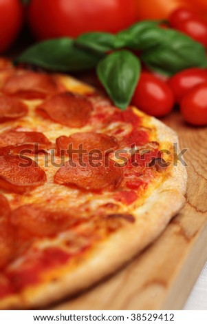 Peperoni pizza - stock photo