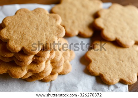 Pepparkakor (Swedish Ginger Cookies) - stock photo