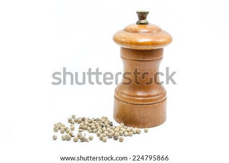pepper grinder isolated on white background - stock photo