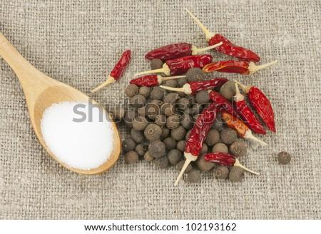 pepper mix and salt - stock photo