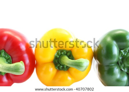Pepper red, green, yellow, is isolated
