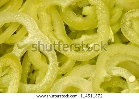 Pepper slices - stock photo
