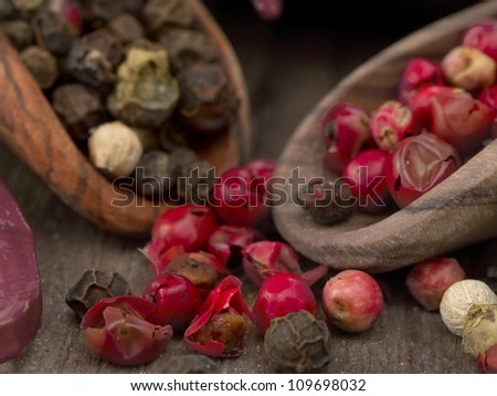 pepper spice - stock photo