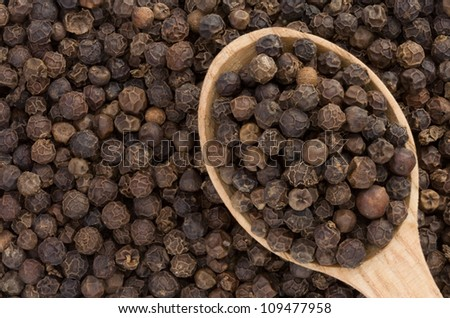 pepper spices and spoon as  background