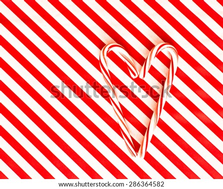 Peppermint Candy Cane Heart - stock photo
