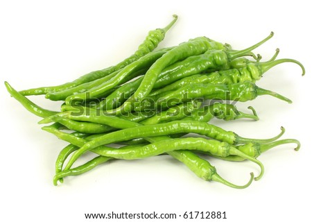 peppers on white background - stock photo