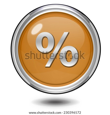 Percent circular icon on white background