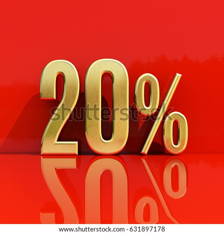 Percent Discount Sign Sale Up To 20 Special Offer
