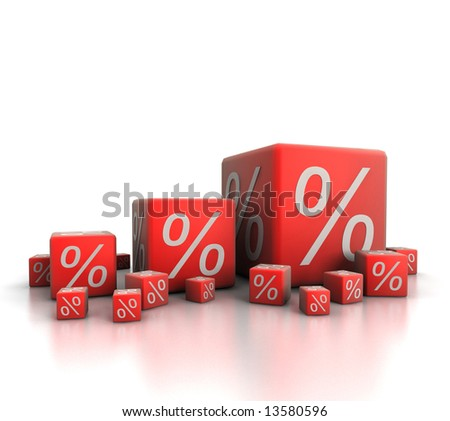 Percent growth - stock photo