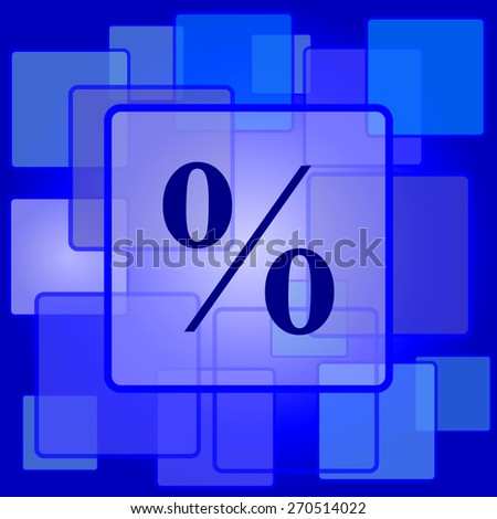 Percent  icon. Internet button on abstract background.  - stock photo